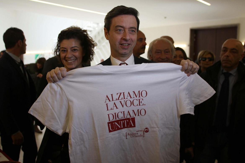 Il ministro Andrea Orlando, candidato alle primarie Pd