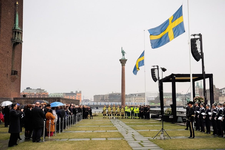 Stoccolma, minuto di silenzio in ricordo di vittime attentato