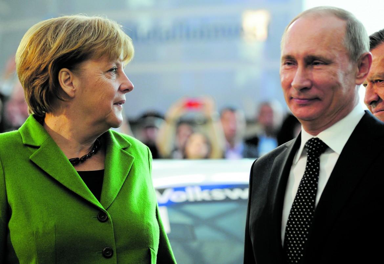 La cancelliera tedesca Merkel e il presidente russo Putin