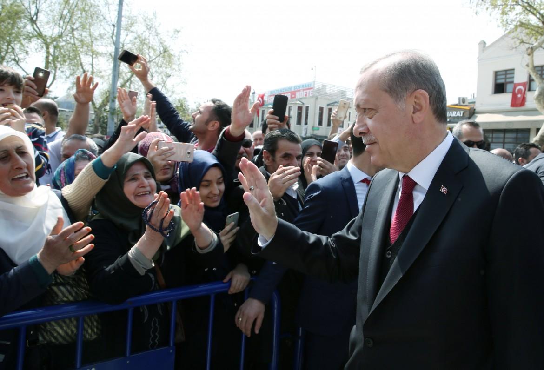 Sostenitori del referendum di Erdogan