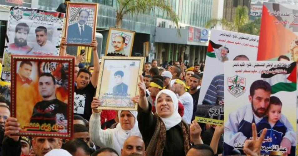 NABLUS. Protesta dei familiari dei prigionieri palestinesi