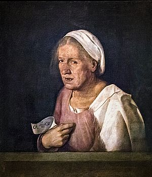 La vecchia di Giorgione, circa 1506