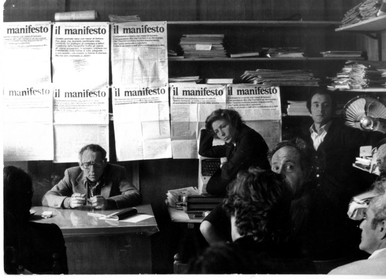 Pintor, Castellina e Parlato in una riunione di redazione degli inizi