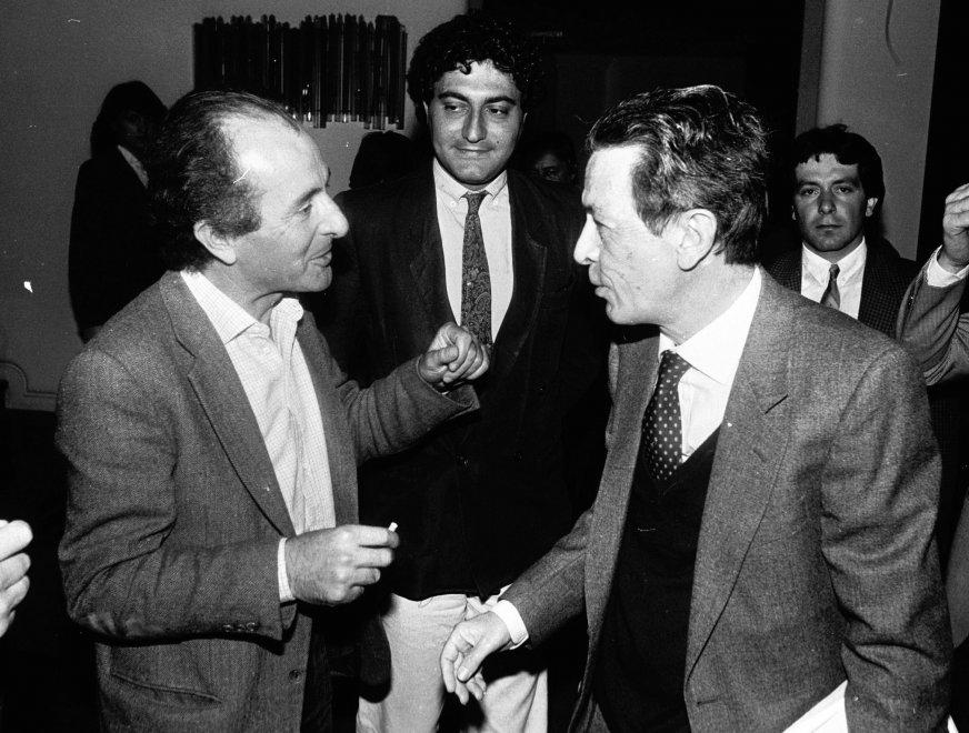 Valentino Parlato ed Enrico Berlinguer