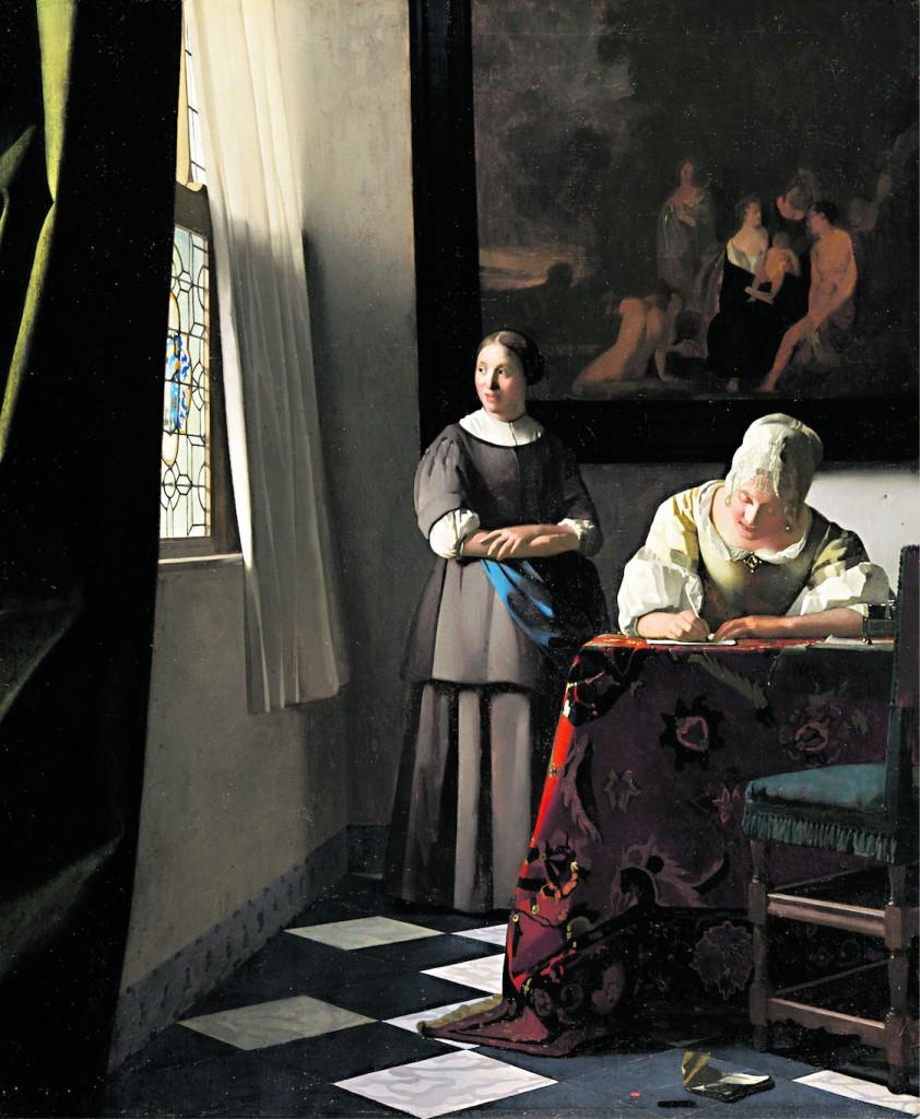 Jan Vermeer, «La lettera», Dublino, National Gallery of Ireland