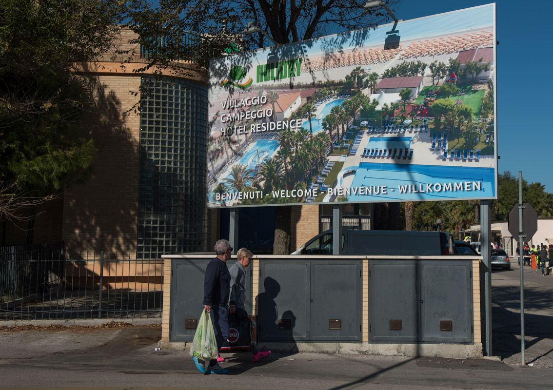 Un albergo di Porto Sant'Elpidio che ospita gli sfollati