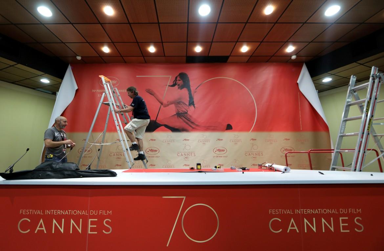 allestimento al Palais di Cannes