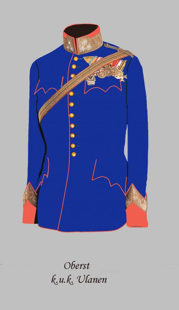 Uniforme da parata  di un colonnello austro-ungarico  degli Ulani