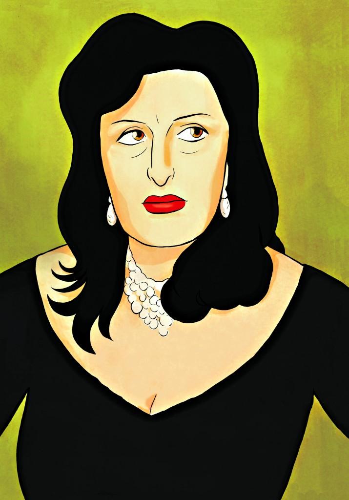 Una elaborazione della copertina del libro Anna Magnani