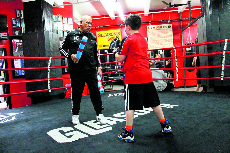 allenamento nella Gleason Gym