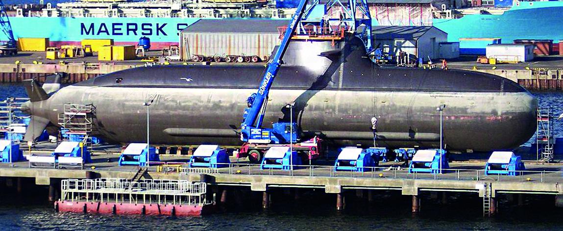 Kiel, cantieri navali TyssenKrupp: il sottomarino U212-A