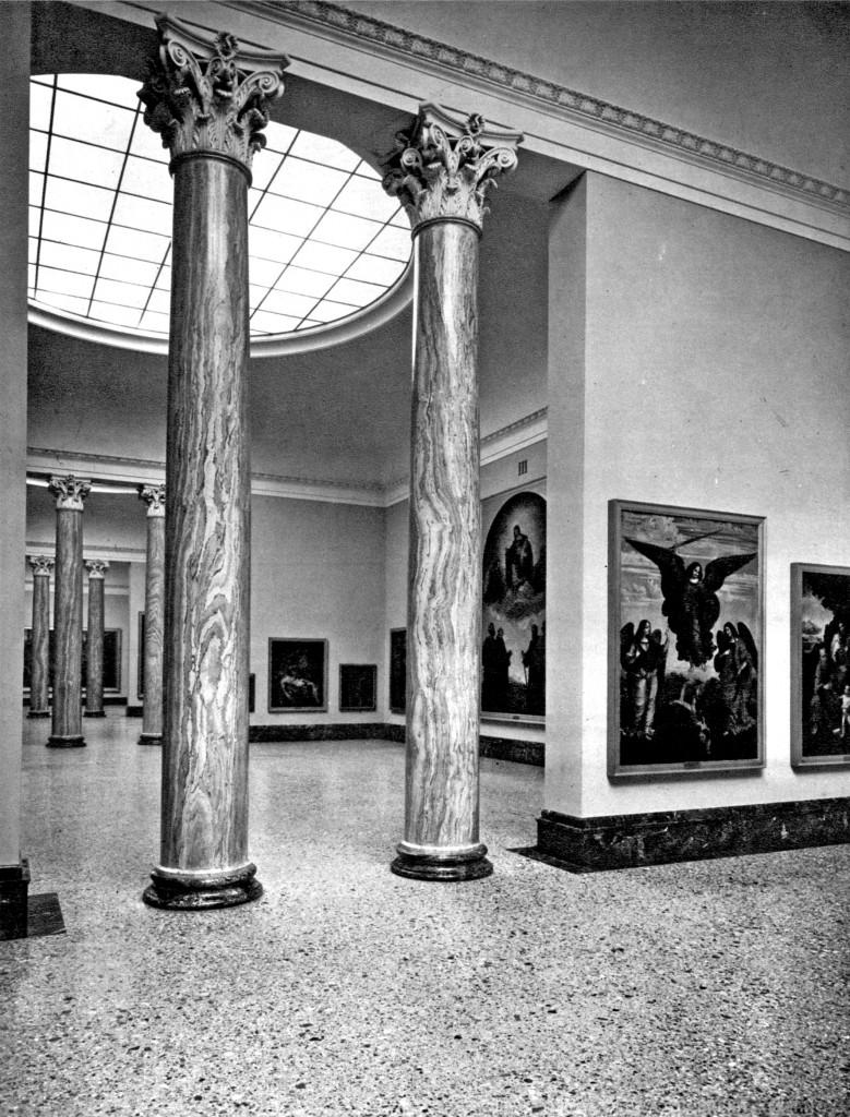 saloni napoleonici di Brera, sistemazione 1960, da Gian Alberto dell'Acqua e Franco Russoli, «Brera. La pinacoteca», Silvana Editoriale d'arte, 1960