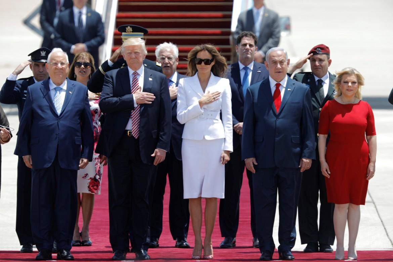 L'arrivo di Trump in Israele nel 2017