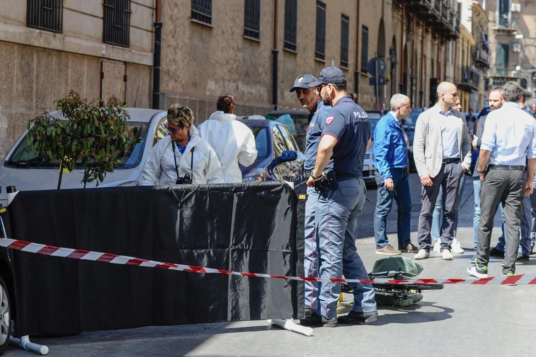 Palermo, sul luogo dell'omicidio