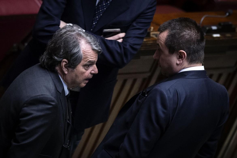 I capogruppo di Forza Italia e Pd alla camera, Renato Brunetta ed Ettore Rosato