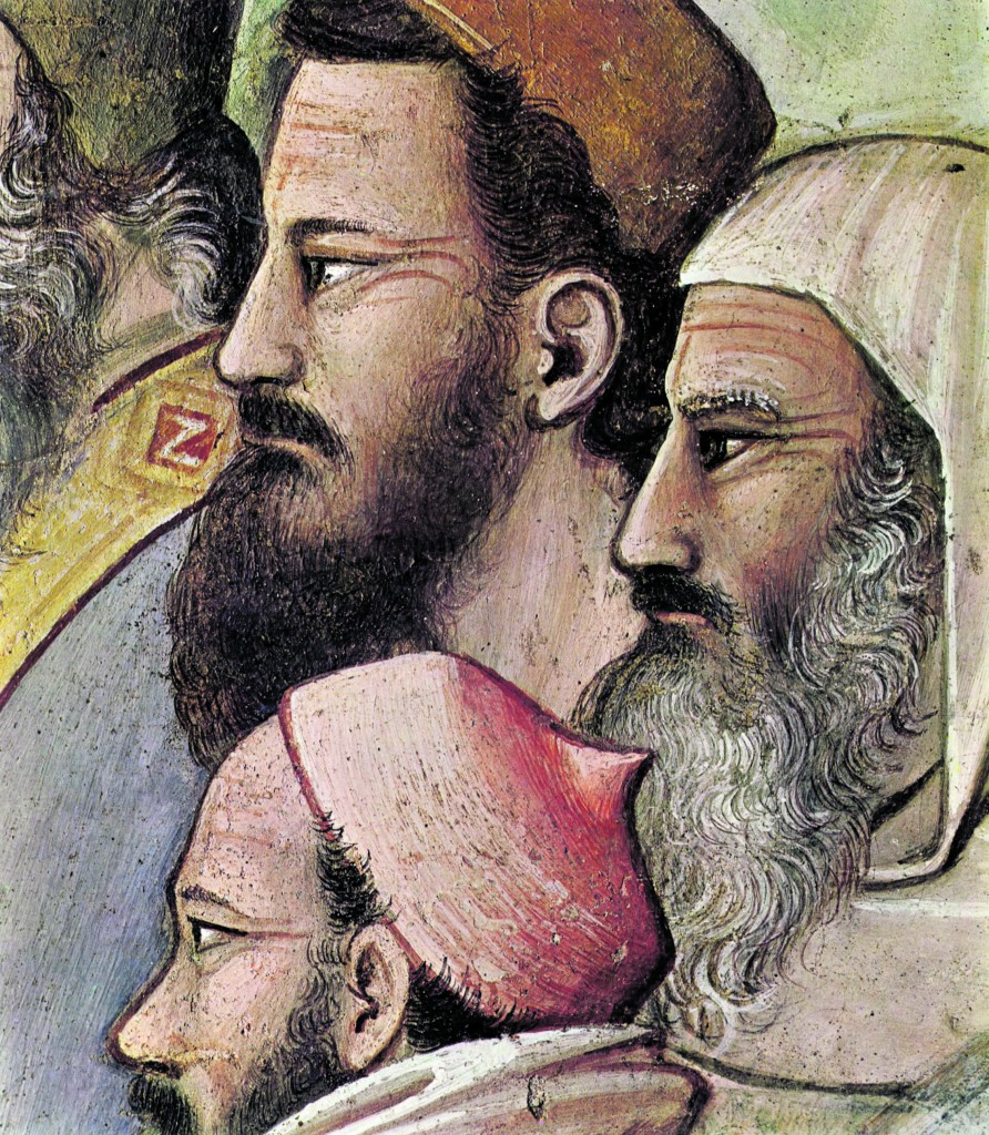 Maso di Banco, «Miracolo del toro», part., 1340 ca., Firenze, Santa Croce, Cappella Bardi di Vernio