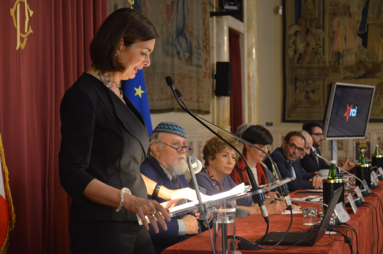 Laura Boldrini alla celebrazione del sessantesimo compleanno dell'Arci alla Camera
