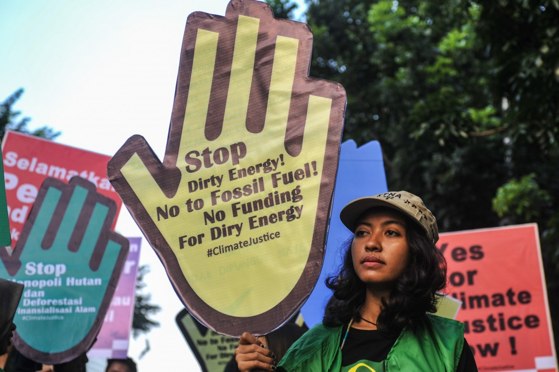 Protesta per la difesa dell'ambiente a Parigi