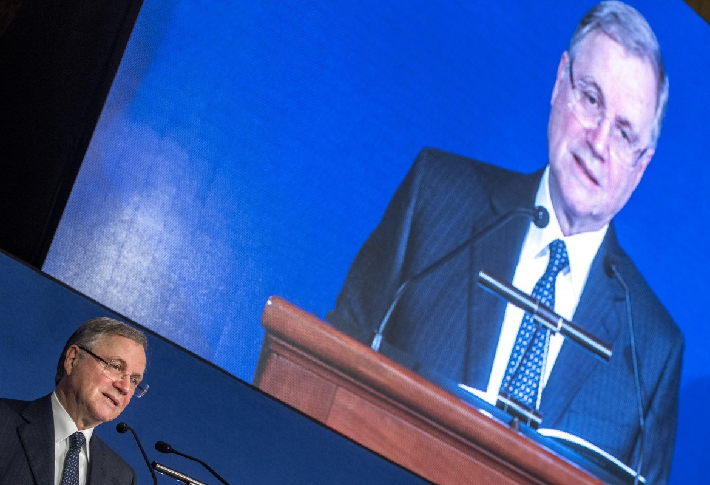 Ignazio Visco durante l'assemblea di Banca d'Italia