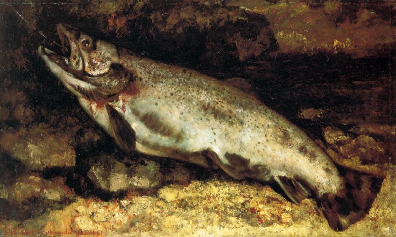 Gustave Courbet,  «La trota», 1871