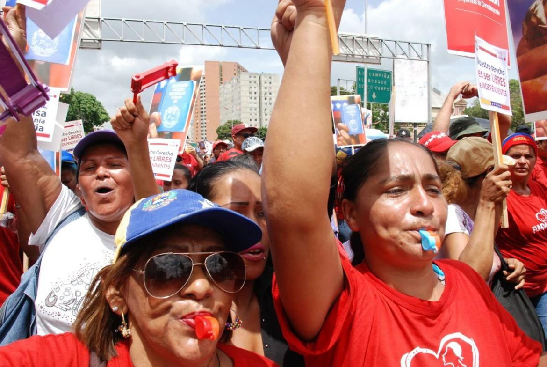 Caracas, manifestazione per l'Assemblea Costituente