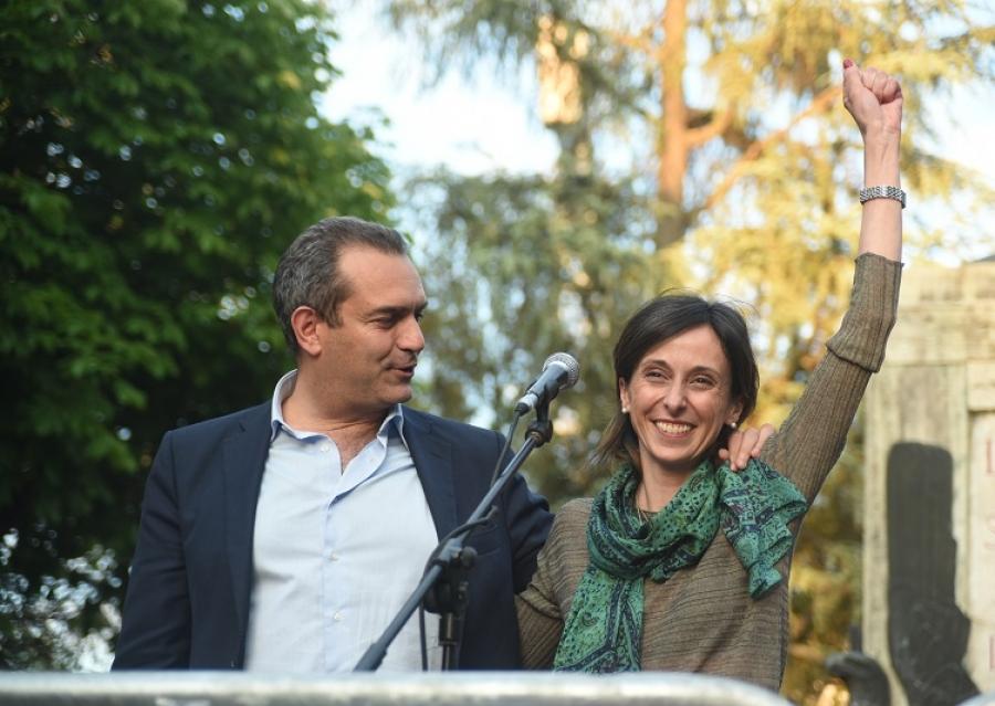 Luigi De Magistris a L'Aquila per supportare la candidata di Coalizione sociale, Carla Cimoroni