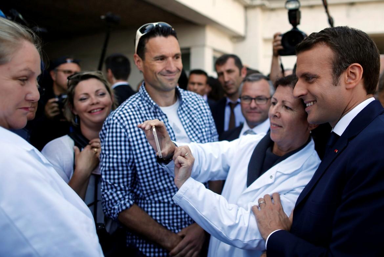 Il presidente francese Emmanuel Macron