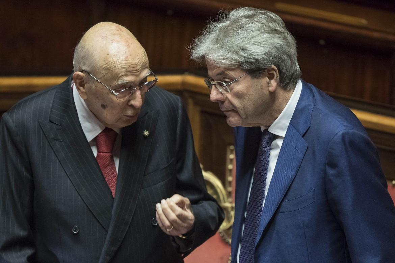 Giorgio Napolitano con Paolo Gentiloni