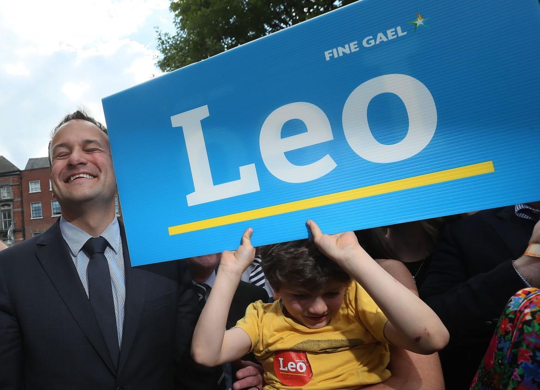 Leo Varadkar in campagna elettorale