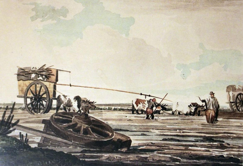 Emeric Essex Vidal, schizzo per «Aguatero de Buenos Aires», 1818