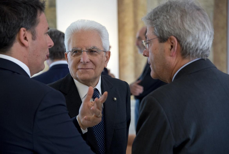 Matteo Renzi, Sergio Mattarella e Paolo Gentiloni