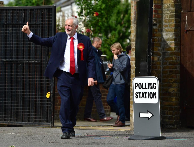 Jeremy Corbyn subito dopo il voto del 9 giugno