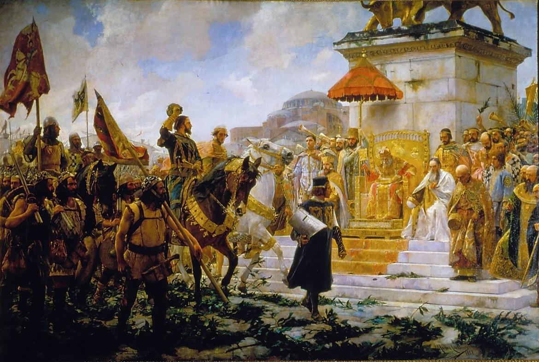 Ingresso di Roger de Flor a Costantinopoli