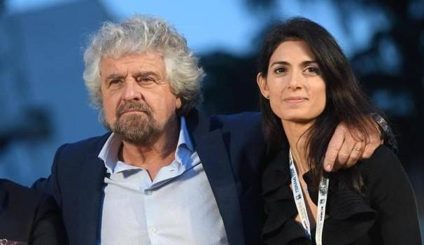 Beppe Grillo e la sindaca di Roma Virginia Raggi