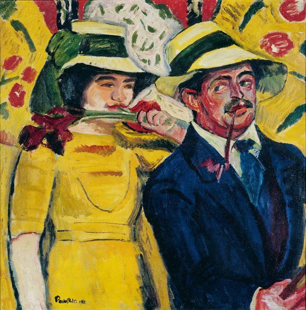 Max Pechstein,  «Doppio ritratto», 1910