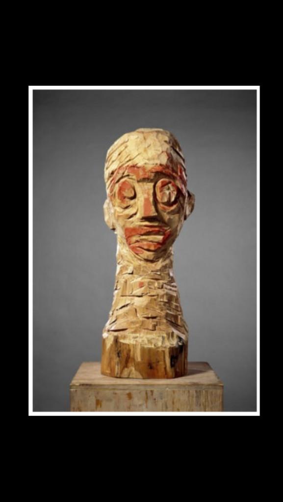 Georg Baselitz, «Ohne Titel» / «Senza titolo», 1982-'83, legno di pioppo e pittura