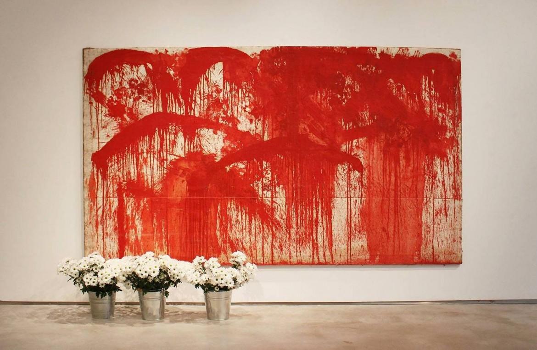 Un «relitto» della mostra di Hermann Nitsch al Ciac di Foligno