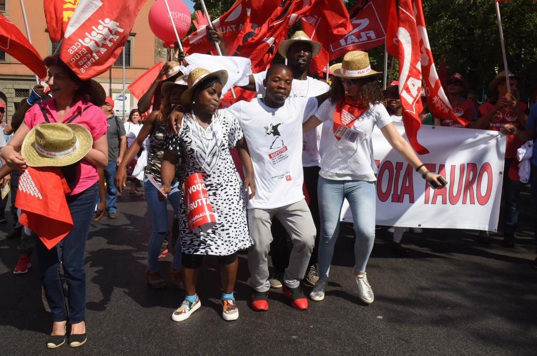 La manifestazione della Cgil a Roma il 17 giugno