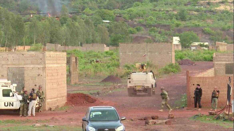 Nei pressi del resort Le Campement de Kangaba a Bamako, Mali, ieri mattina
