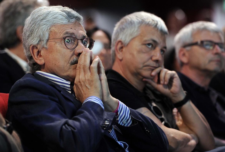 Massimo D'Alema e Nichi Vendola al Brancaccio