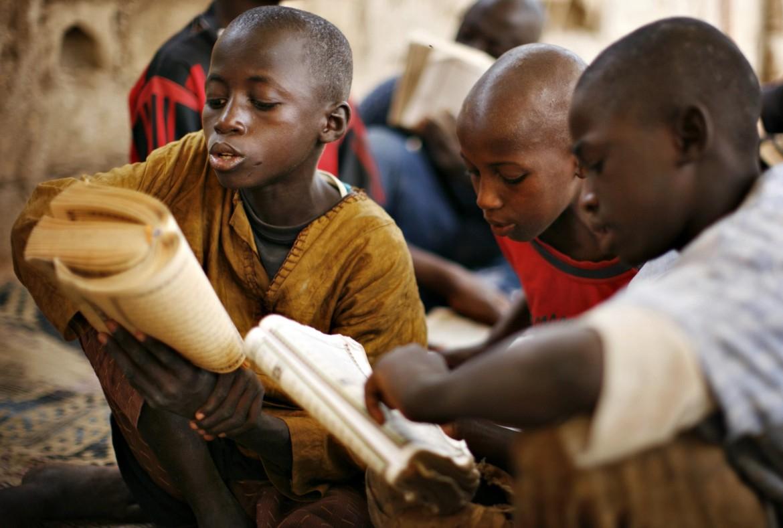 In una scuola coranica tradizionale (daara) alla periferia di Dakar, Senegal