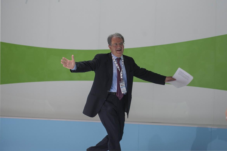 Romano Prodi al congresso della Cisl