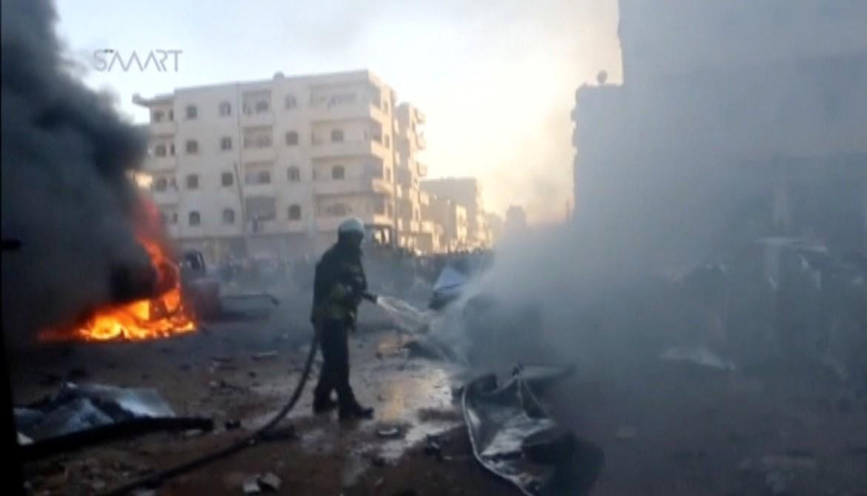 Un'autobomba esplosa a al-Dana, nella provincia di Idlib