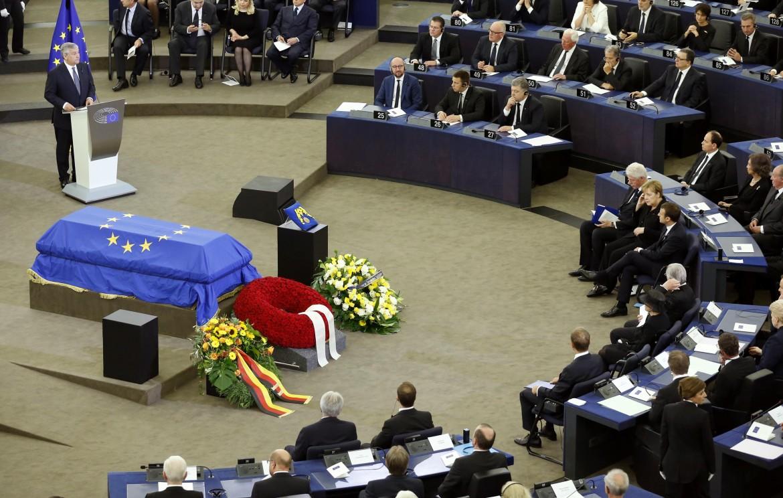 I funerali di Kohl al parlamento europeo