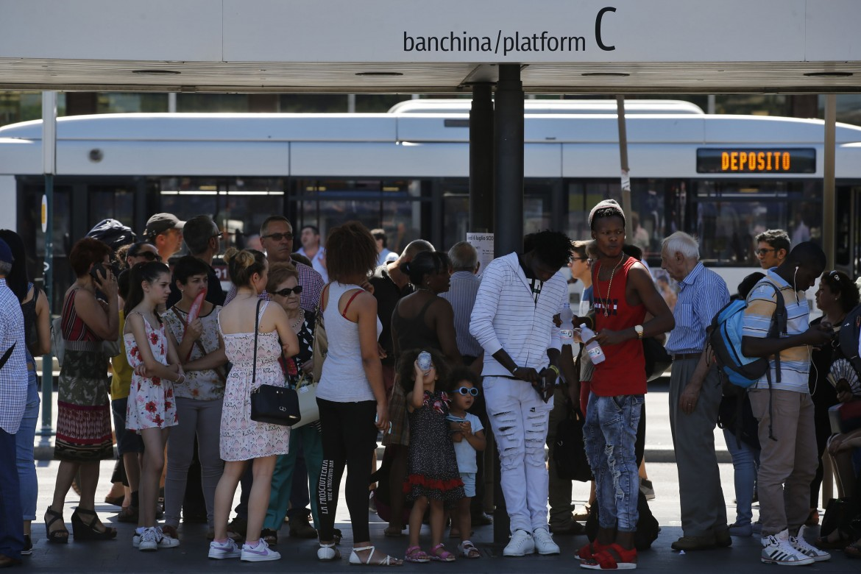 Ieri alla Stazione Termini di Roma