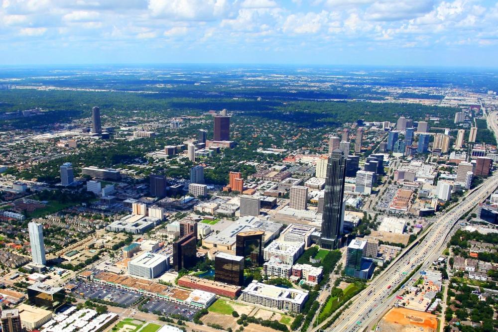 Uno sguardo del quartiere Galleria, a Houston