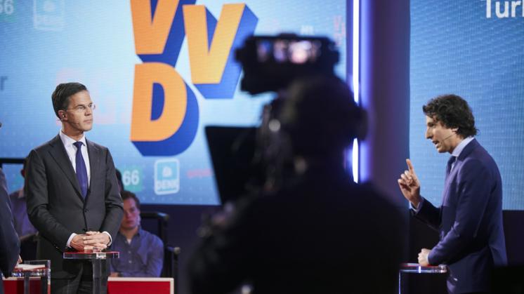 Il premier uscente Mark Rutte e il leader del GroenLinkes Jesse Klaver