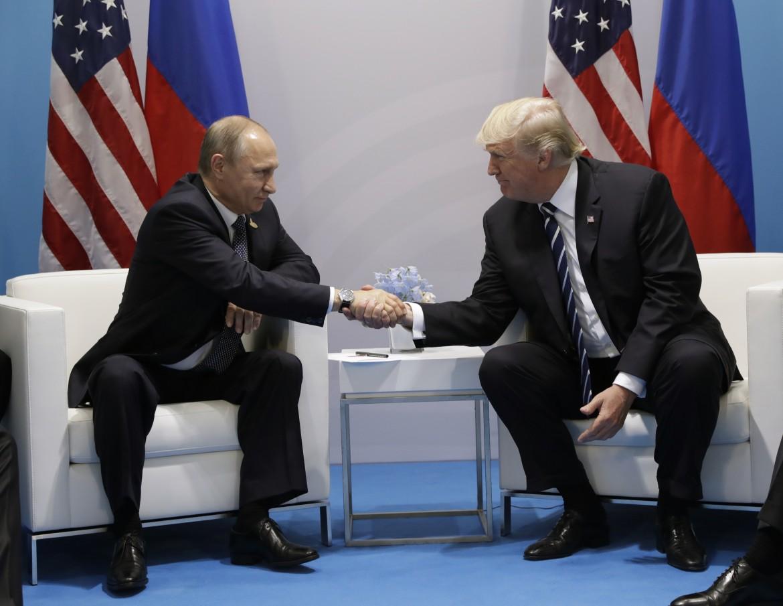 Putin e Trump al G20 del luglio 2017
