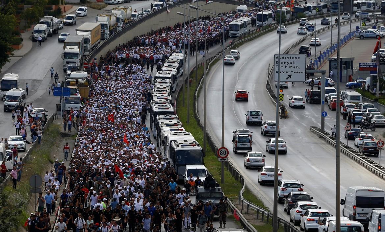 La marcia per la giustizia arrivata a Istanbul dopo 480 km