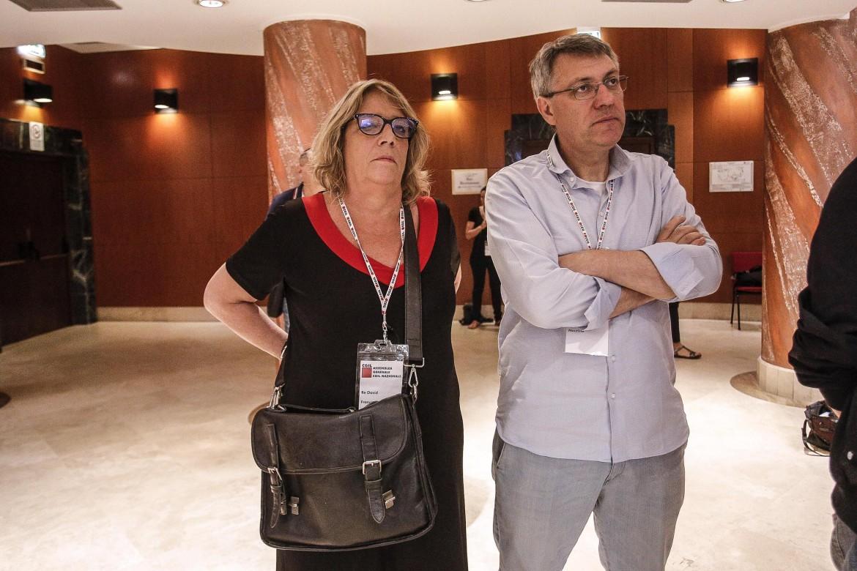 Francesca Re David e Maurizio Landini